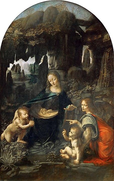 454px-Leonardo_Da_Vinci_-_Vergine_delle_Rocce_(Louvre).jpg